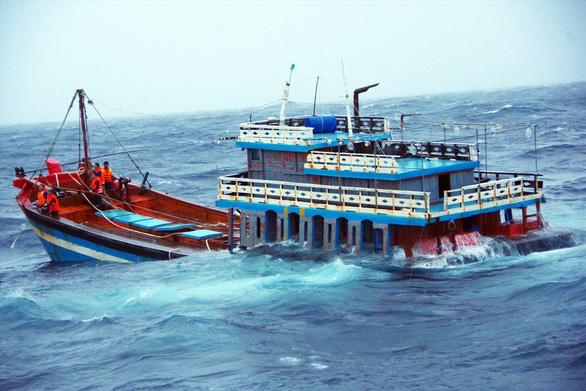 Vượt sóng dữ cứu ngư dân - Ảnh 1.