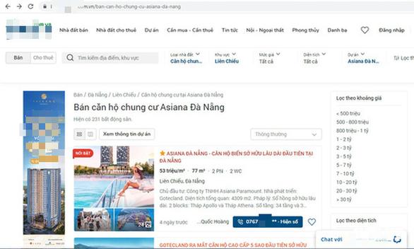 Đà Nẵng tuýt còi việc quảng cáo, rao bán căn hộ tại 2 dự án - Ảnh 1.