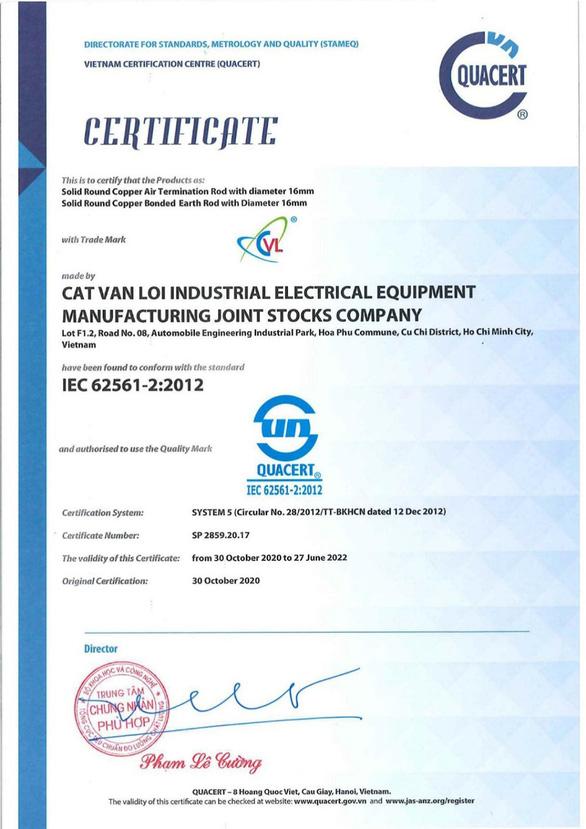 Cát Vạn Lợi sản xuất hộp kiểm tra điện trở tiếp địa đạt chuẩn IEC 62561 - Ảnh 2.