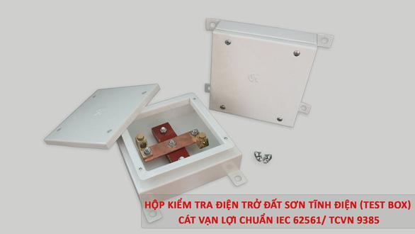 Cát Vạn Lợi sản xuất hộp kiểm tra điện trở tiếp địa đạt chuẩn IEC 62561 - Ảnh 3.