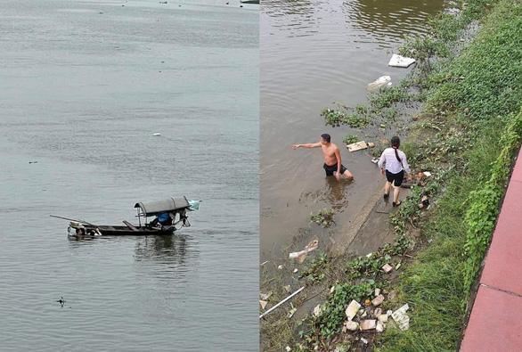Thượng úy quân đội lao xuống sông cứu cô gái nhảy cầu tự tử - Ảnh 2.