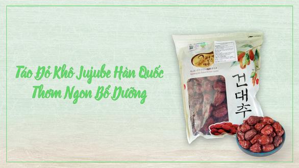 Táo đỏ khô Jujube Hàn Quốc chính hãng ngon và bổ dưỡng - Ảnh 1.
