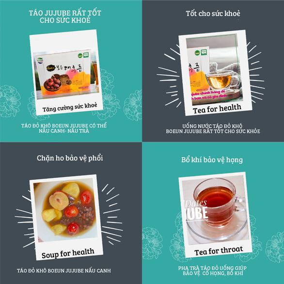 Táo đỏ khô Jujube Hàn Quốc chính hãng ngon và bổ dưỡng - Ảnh 4.