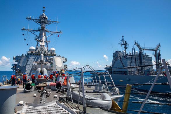 Máy bay, tàu chiến Mỹ, Trung xuất hiện cùng ngày tại eo biển Đài Loan - Ảnh 1.