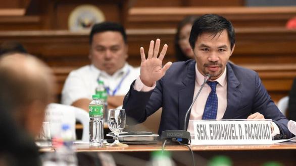Ngôi sao quyền anh Pacquiao tranh cử tổng thống Philippines vào năm sau - Ảnh 1.