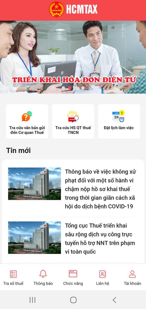 Cơ quan thuế ra mắt app 'giao tiếp' với người nộp thuế - Ảnh 1.