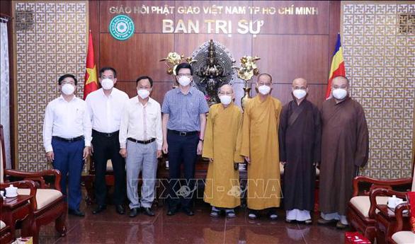 Giáo hội Phật giáo Việt Nam TP.HCM đã quyên tặng vật tư y tế, thiện nguyện… trị giá hơn 500 tỉ đồng - Ảnh 1.