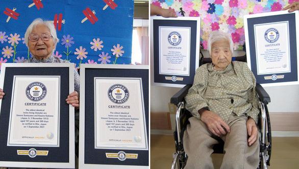 Cặp sinh đôi hơn 107 tuổi ở Nhật lập kỷ lục Guinness sống thọ nhất thế giới - Ảnh 1.