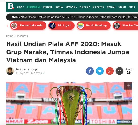 Báo Indonesia đặt mục tiêu vô địch dù rơi vào bảng tử thần với Việt Nam, Malaysia - Ảnh 1.