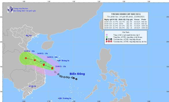 Áp thấp nhiệt đới mạnh lên thành bão số 6, đảo Lý Sơn có gió giật cấp 8 - Ảnh 2.