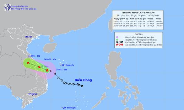 Bão số 6 trên vùng biển từ Quảng Trị đến Quảng Ngãi, nhiều nơi ở miền Trung mưa lớn - Ảnh 1.