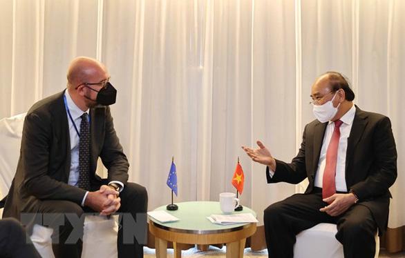 Chủ tịch nước tiếp lãnh đạo EU, Thụy Sĩ, Mông Cổ - Ảnh 1.