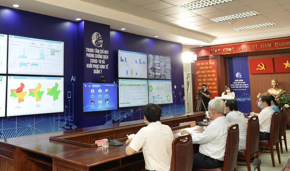 Quận 7 ra mắt trung tâm công nghệ phục vụ chống dịch COVID-19 và phục hồi kinh tế - Ảnh 1.