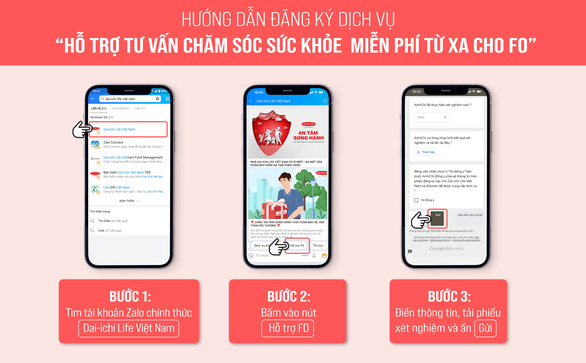 Dai-ichi Life Việt Nam hỗ trợ tư vấn sức khỏe miễn phí từ xa cho F0 - Ảnh 1.