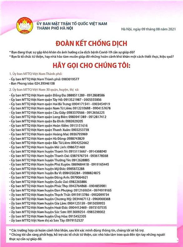 Hà Nội hỗ trợ người ngoại tỉnh và người nước ngoài khó khăn vì COVID-19 - Ảnh 2.