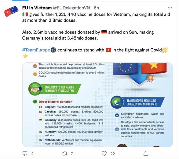 Ý viện trợ thêm 1,2 triệu liều vắc xin cho Việt Nam - Ảnh 2.
