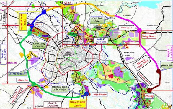 Thủ tướng đồng ý 5 tỉnh, thành chủ trì làm đường vành đai 4 TP.HCM - Ảnh 1.