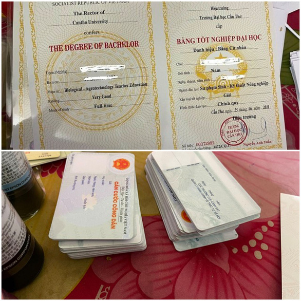 Quảng Nam triệt phá đường dây mua bán, làm giả bằng cấp, giấy tờ - Ảnh 2.