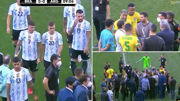 Đá 7 phút, Messi và cầu thủ Argentina ngừng thi đấu để phản đối cảnh sát Brazil - Ảnh 1.
