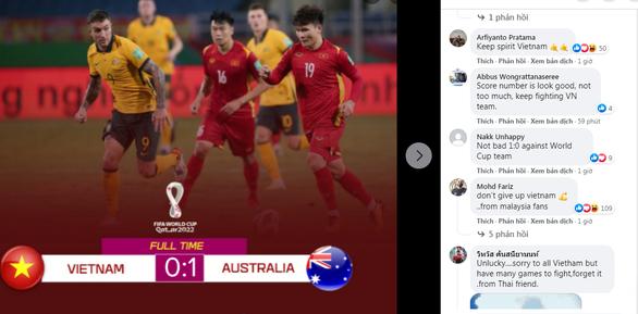 Việt Nam được cổ động viên châu Á khen ngợi dù thua Úc - Ảnh 1.