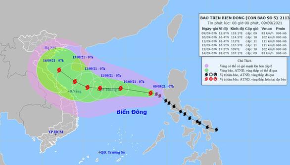 Bão số 5 diễn biến rất phức tạp do tương tác với siêu bão Chanthu - Ảnh 1.