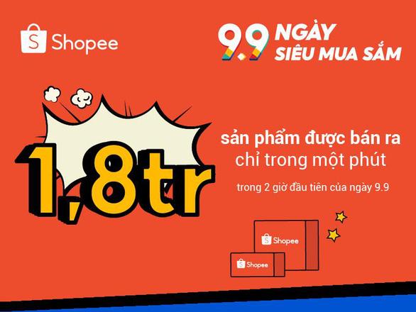 1,8 triệu sản phẩm đã được bán ra chỉ trong vòng một phút trên Shopee - Ảnh 1.