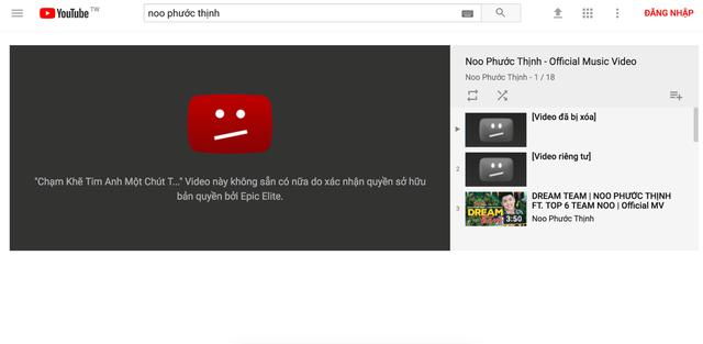 MV của Noo Phước Thịnh bị xoá khỏi Youtube vì bản quyền? - Ảnh 2.