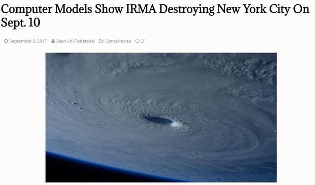 Siêu bão Irma sẽ phá huỷ New York là tin giả - Ảnh 1.