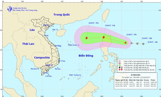 Áp thấp nhiệt đới có khả năng mạnh lên thành bão - Ảnh 1.