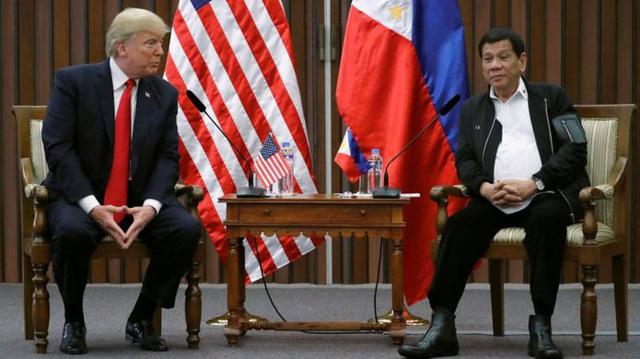 Ông Trump ca ngợi mối thân tình với ông Duterte - Ảnh 1.