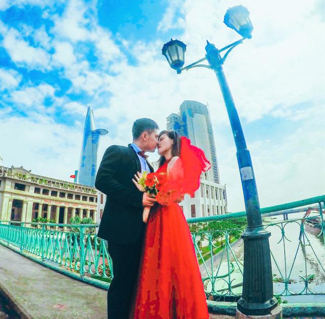 Ảnh cưới lãng mạn của cặp đôi chiến sĩ nên duyên nhờ công nghệ - Ảnh 10.