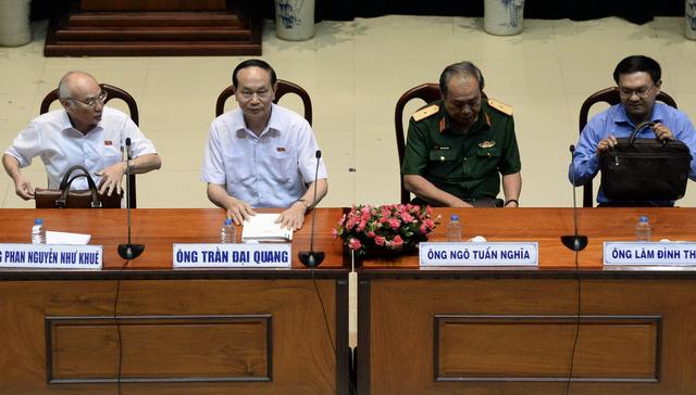 Chủ tịch nước Trần Đại Quang tiếp xúc cử tri TP.HCM - Ảnh 3.