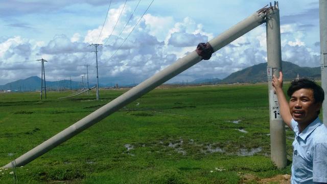 Hơn 400 cột điện gãy trong bão số 10 do dùng lõi thép chữ V? - Ảnh 4.