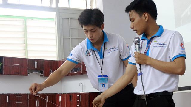 Máy ép rác hữu cơ hộ gia đình made by sinh viên - Ảnh 1.