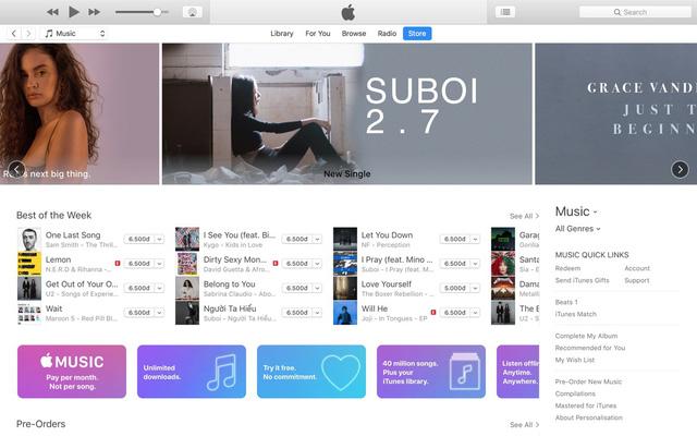 Suboi - nghệ sĩ Việt đầu tiên có banner trên Apple Music - ảnh 1