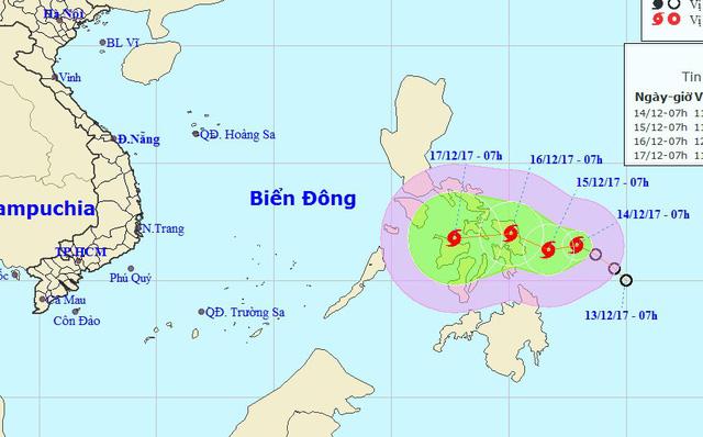 Áp thấp nhiệt đới gần Biển Đông đã thành bão, giật cấp 10 - Ảnh 1.