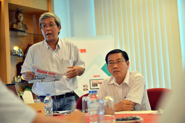 Đoàn nhà báo Lào tham quan báo Tuổi Trẻ - Ảnh 3.