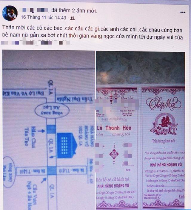 Được mời cưới qua Facebook, bạn có đi không? - Ảnh 1.