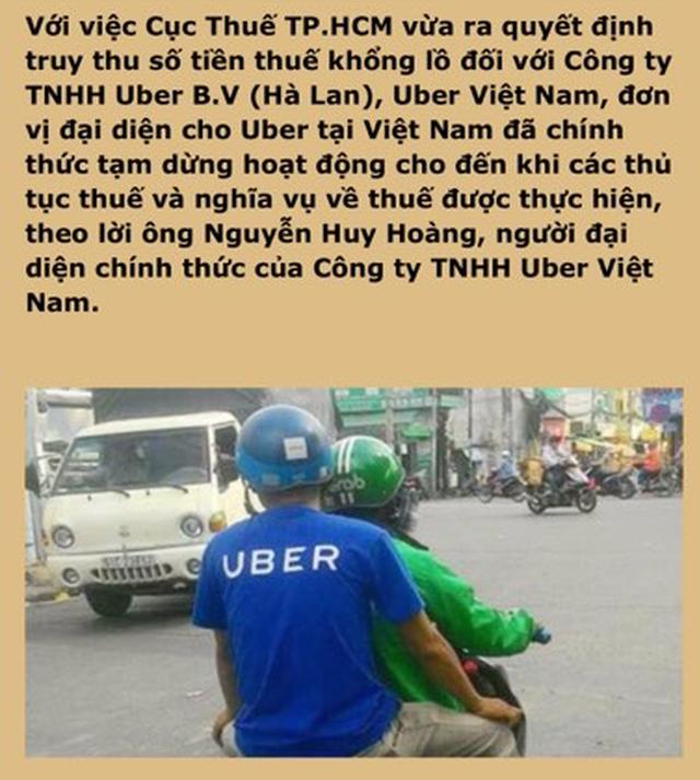 Uber Việt Nam đóng cửa chỉ là tin đồn - Ảnh 1.