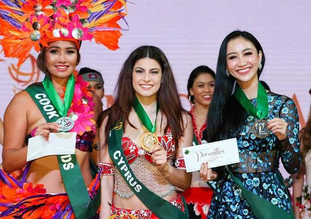 Hà Thu giành huy chương đồng tại Hoa hậu trái đất - Ảnh 1.