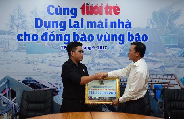 Công ty Vạn Thái trao hơn 153 triệu đồng hỗ trợ đồng bào vùng bão - Ảnh 1.