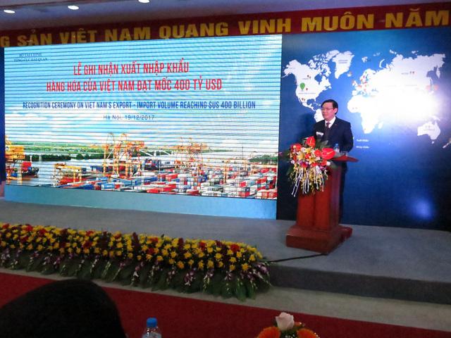 Chưa hết năm 2017, xuất nhập khẩu Việt Nam đạt 400 tỉ USD - Ảnh 1.