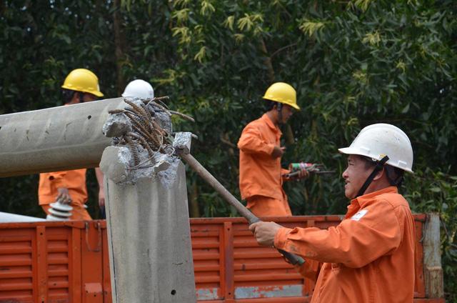 Điện lực Quảng Ngãi vừa sửa điện, vừa cứu trợ dân vùng lũ - Ảnh 2.