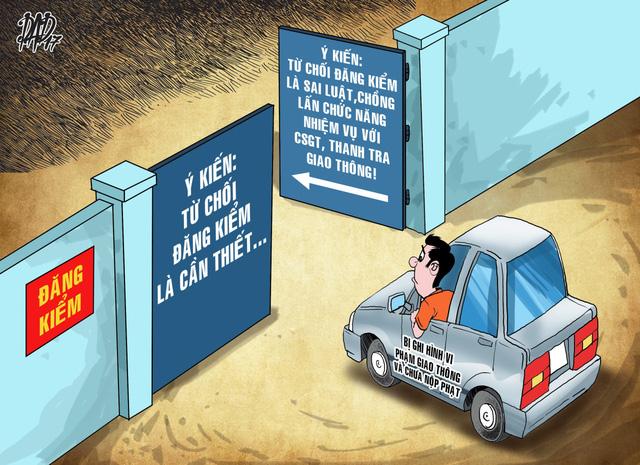 Từ chối đăng kiểm do chưa nộp phạt là trái luật - Ảnh 1.