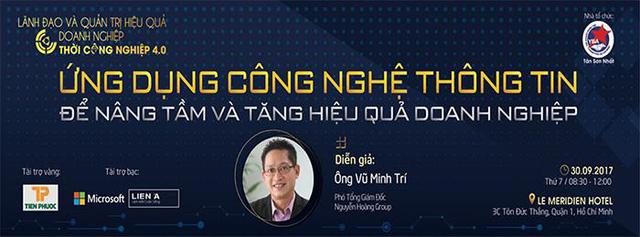 """Hội thảo """"Ứng dụng CNTT để nâng tầm và tăng hiệu quả doanh nghiệp"""" - Ảnh 1."""