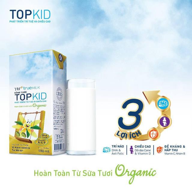 Sữa tươi tiệt trùng TH true MILK công thức TOPKID - Ảnh 2.