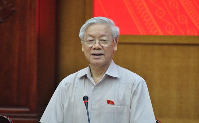 Tổng bí thư, Chủ tịch nước lần đầu dự họp trực tuyến của Chính phủ - Ảnh 1.