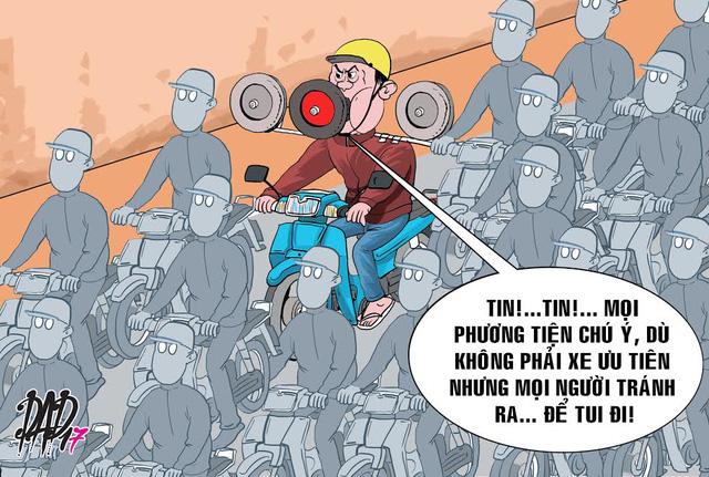 Ở VN chạy xe không bóp còi, an toàn mới lạ! - Ảnh 1.