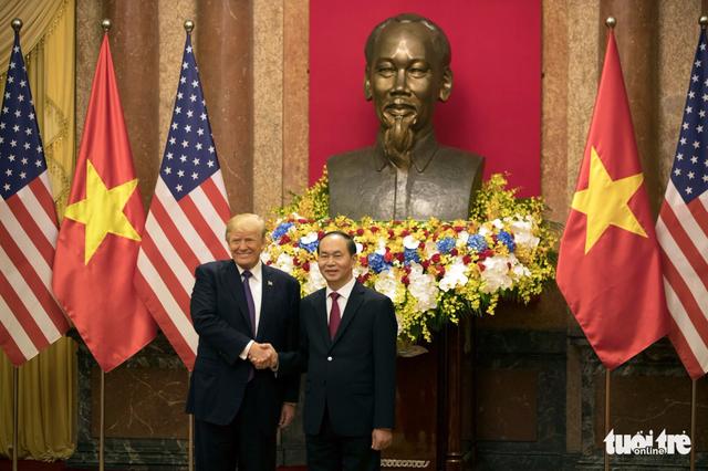Bắt đầu lễ đón Tổng thống Donald Trump tại Phủ chủ tịch - Ảnh 1.