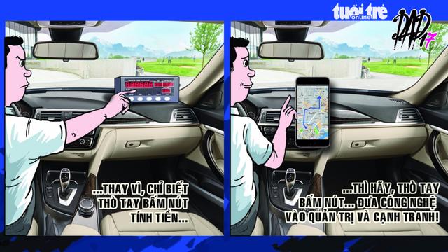 Bài học cạnh tranh từ vụ dán biểu ngữ của taxi - Ảnh 1.